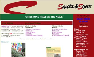Santa & Sons Christmas Trees Uses AccentHost.com for both retail and wholesale market placement